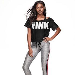 Vs Pink Off-The-Shoulder Oversized Tee Shirt Top S